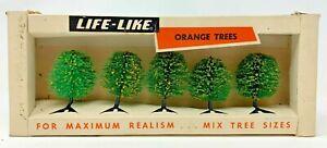 Vintage Life-Like Trains - 5 Orange Trees #01024
