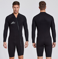 Men's 3mm Neoprene Short Diving Suits Free Dive Scuba Snorkeling Short Wetsuits