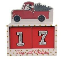 Disney Mickey Mouse Christmas Countdown Wooden Block Days Until Xmas Primark
