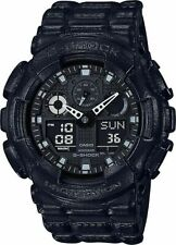 Casio G-Shock Black Out Leather Texture Series Analog-Digital Black Watch