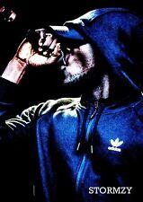 STORMZY Poster A4 - retro Look - # 12 - music rapper (297mm x 210mm)