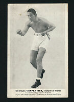 1913 GEORGES CARPENTIER (vs. Bombardier Wells) SOUVENIR CARD Boxing Match Promo