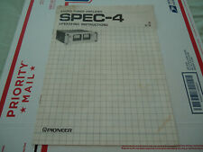 Pioneer Spec 4 Stereo Amplifier Original Operating Instruction Manual
