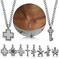 Set Halskette Mit Anhänger Damenschmuck Kettenanhänger Ankerkette Kreuz Anker