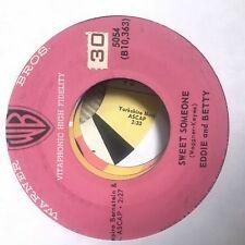 Eddie & Betty- Sweet Someone/Saturday Night Fish Fry- Warner Bros 5054- VG+
