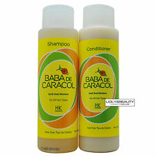 Baba De Caracol Earth Snail Moisture Shampoo and Conditioner 16 Oz / 450 ml Duo