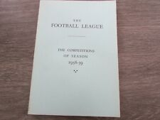 More details for the football league competitions of season 1938 - 39 complied by w m johnston