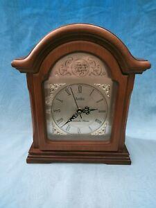 Acctim ~  Westminster Chime Wood 'Tempus Fugit' Quartz Mantle Clock - 26 cm tall