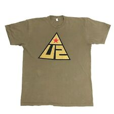 U2 Glastonbury 2011 T-Shirt Olive Green Mens XL