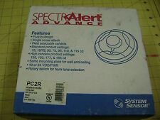 SPECTR ALERT Fire Alarm Red Ceiling Strobe Horn PC2R