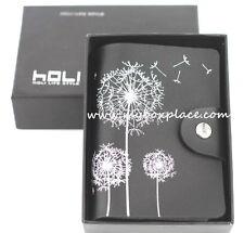 Black Dandelion Genuine Leather Business Credit Licence Card Holder Wallet