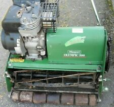 petrol cylinder mower 500mm cut ideal greens bowls lawn runs cuts easy repair