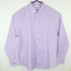 "F&F Mens Size 17"" Collar Formal Shirt Purple"