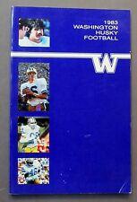 1983 UNIVERSITY WASHINGTON HUSKIES football Media Press Guide