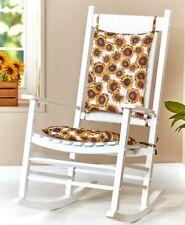 Two Piece Sunflowers Rocker Rocking Chair Cushions Seat & Back Pads Set w/ Ties