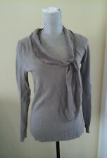 BEAUTIFUL J.CREW WOMAN'S SWEATER TAUPE SIZE S WOOL CASHMERE SILK BLEND