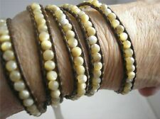 Rare Collectable Chan Luu Mother of Pearl 5 Wrap Bracelet, NWT, Gift pouch