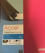 Accel Spine Guard College Ruled Notebook 5 Subject 200 Sheets...39A
