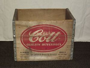 VINTAGE ITS COTT TO BE GOOD 12-32 OUNCE QUARTS WOOD SODA BOX