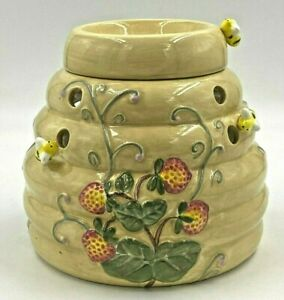 Party Lite Bee Hive Oil Tart Wax Warmer w/ 3D Bees