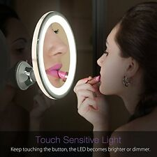 7X Magnifying Makeup Mirror Lighted Adjustable Vanity Mirror with Power Suction