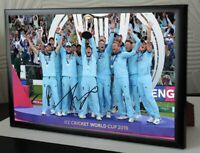 England World Cup Cricket 2019 Winners Framed Canvas Print Eoin Morgan Signed