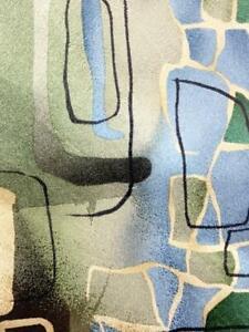 J GARCIA GREEN BLUE ARCHES BLOCKS ART DECOR SILK NECKTIE TIE MSE2720A #P15