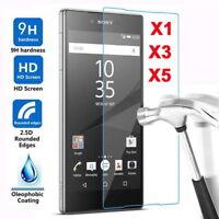 1/3/5X Premium Tempered Glass Screen Protector For Sony Xperia X Compact XA XA1