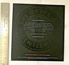 Gentleman Jack Daniels Order of the Gentlemen Placard