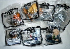 Collectible 2008 McDonald's Happy Meal STAR WARS THE CLONE WARS LOT OF 7 Toys