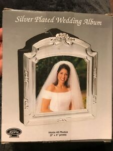 Wedding Album new in box silver plated