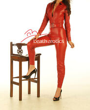 Red Leather All In One Full Body Catsuit/Jumpsuit