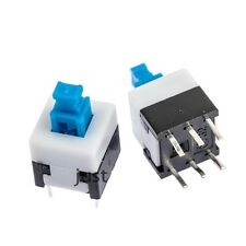 2 Stück Miniatur Druckschalter 8 x 8 mm - 6 Kontake Ein / Aus