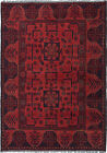 """Vintage Hand-Knotted Carpet 3'3"""" x 4'7"""" Traditional Oriental Wool Area Rug"""