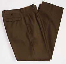 Vintage U.T.A.H. Lavaur Mitin Sz 34x31 Green Pleated Wool Military Pants