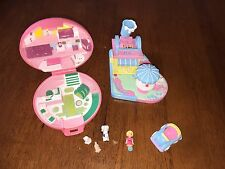 1980s Polly Pocket Vet Clinic and Mimi's Drive through restaurant car doll dolly