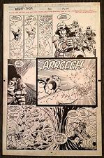 Thor 450 pg 25 Original Art Ron Frenz Al Milgrom Code Blue