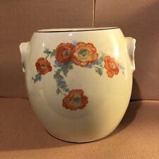 Vintage  ORANGE POPPY COOKIE JAR / PRETZEL JAR.   HALL