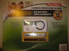 New 10 Year First Alert Carbon Monoxide Alarm w/ Digital display