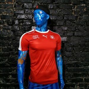 Switzerland Team Jersey Home football shirt 2016 - 2018 Puma Trikot Mens Size S
