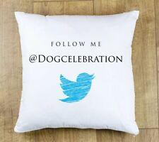 Los medios de comunicación social me sigue cubierta Cojín de Twitter anunciar tu marca persona influyente
