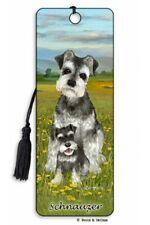 3D Bookmark Schnauzer Small Dog Lover Gift Him Her Kids Friend Puppy Animal Xmas