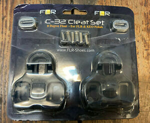FLR Cleat Set Clipless Road Pedals Look KEO Compatible. 0 Degree Float Black NEW