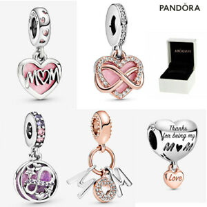 Pandora Genuine Pendant Charm Sparkling Infinity Heart Dangle Mother's Day Gift