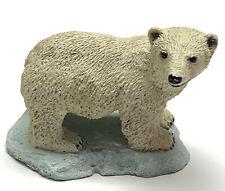 "Polar Bear Figurine Living Stone 3"" Resin Statue New Collectible"