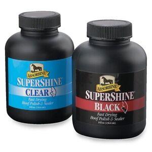 ABSORBINE SUPERSHINE BLACK HOOF POLISH 237ML HORSE & PONY