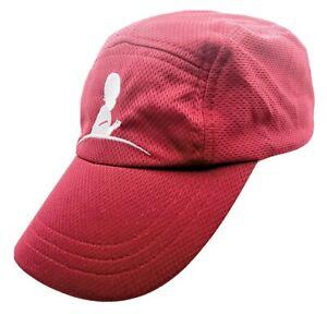 Headsweats. Burgandy Performance Race Headwear Hat Lightweight White Logo