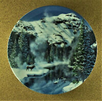 WINTER PEACE IN YELLOWSTONE PARK Plate Nature's Legacy #6 Jean Sias Elk Swans