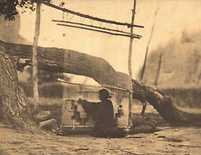 "EDWARD CURTIS  Indian Tribe ""BLANKET WEAVER"" Vintage Native American Book Print"