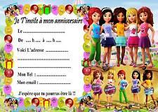 5 cartes invitation anniversaire Lego Friends 06  d'autres articles en vente